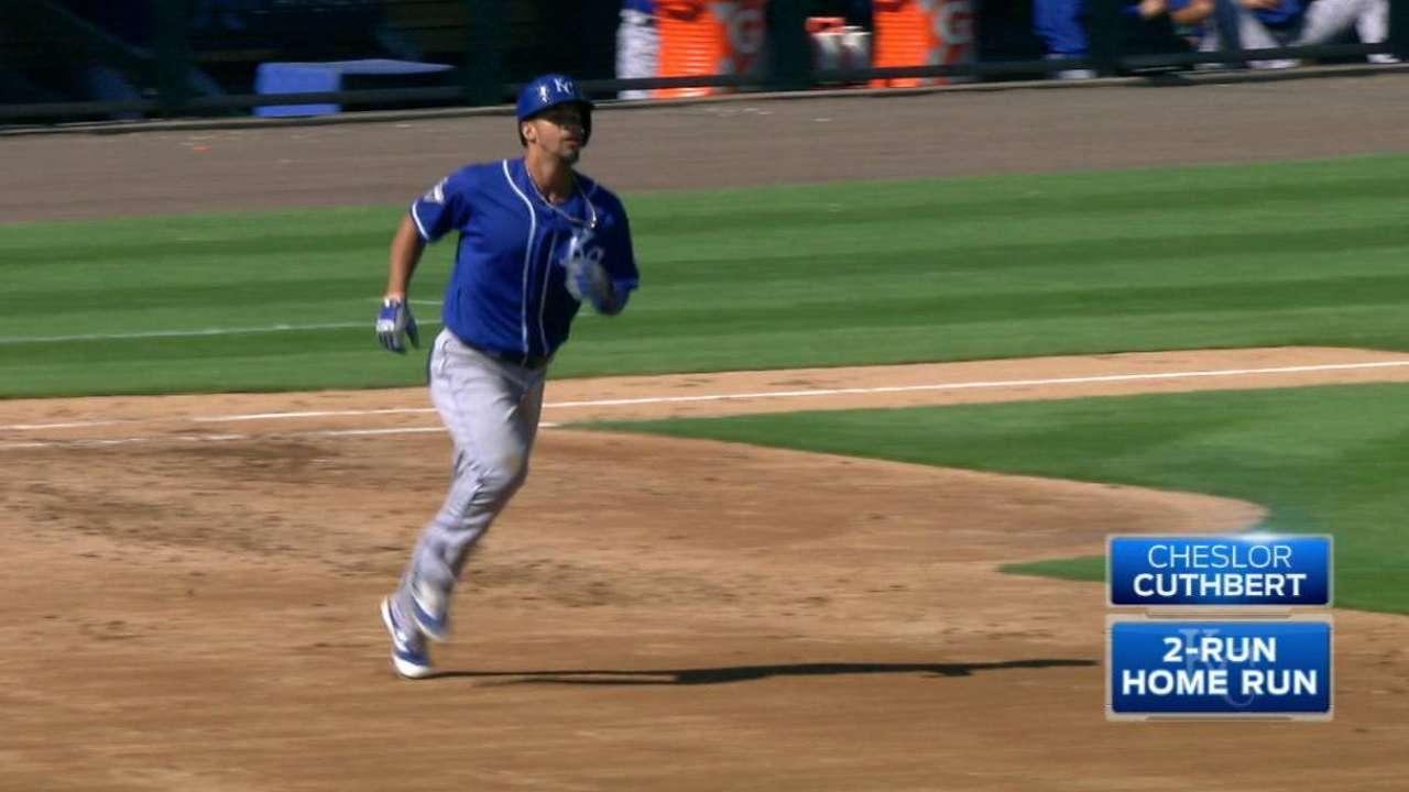 Cuthbert's two-run homer