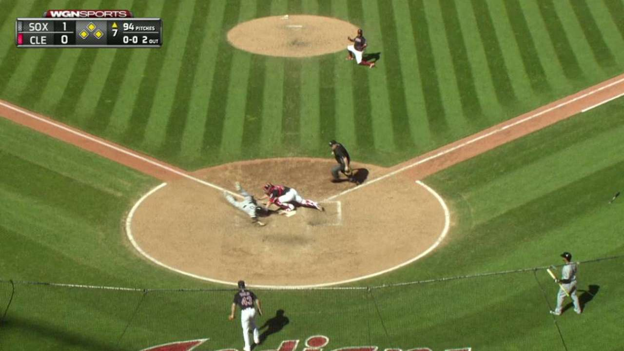 Shuck's slide at home