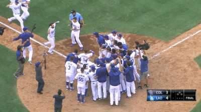 Rockies swept in dramatic fashion for Scully's final call at Dodger Stadium