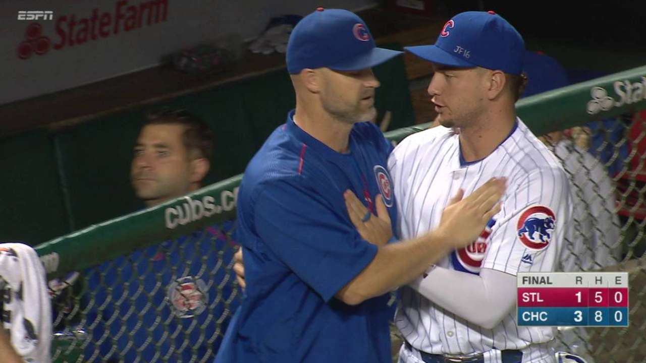 Chapman secures Cubs' win