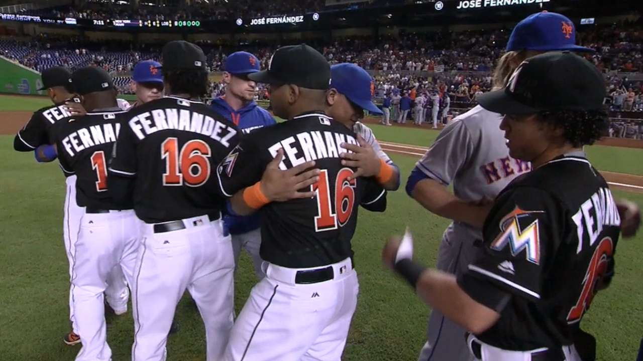 Leiter reacts to embrace