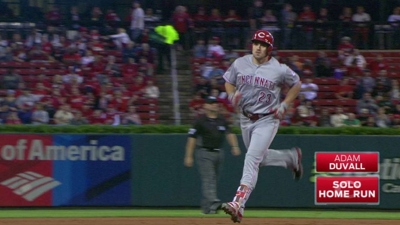 Duvall's homer to left-center
