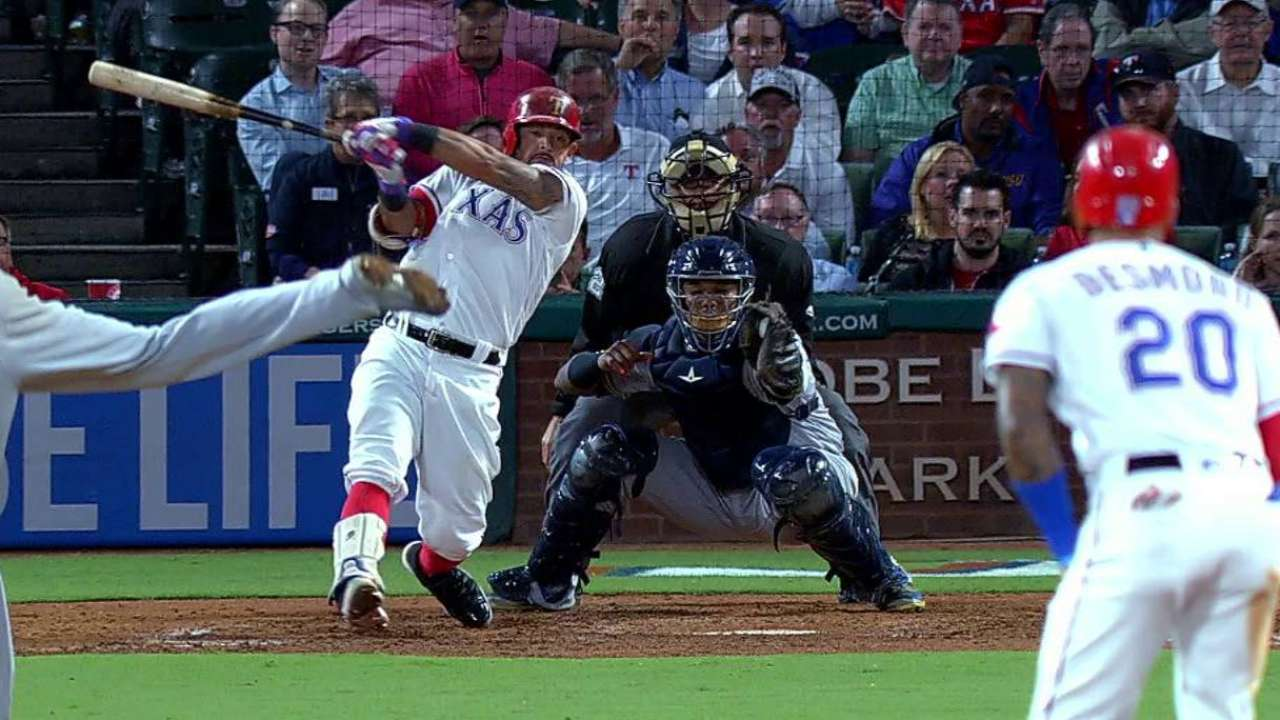 Garza strikes out Odor