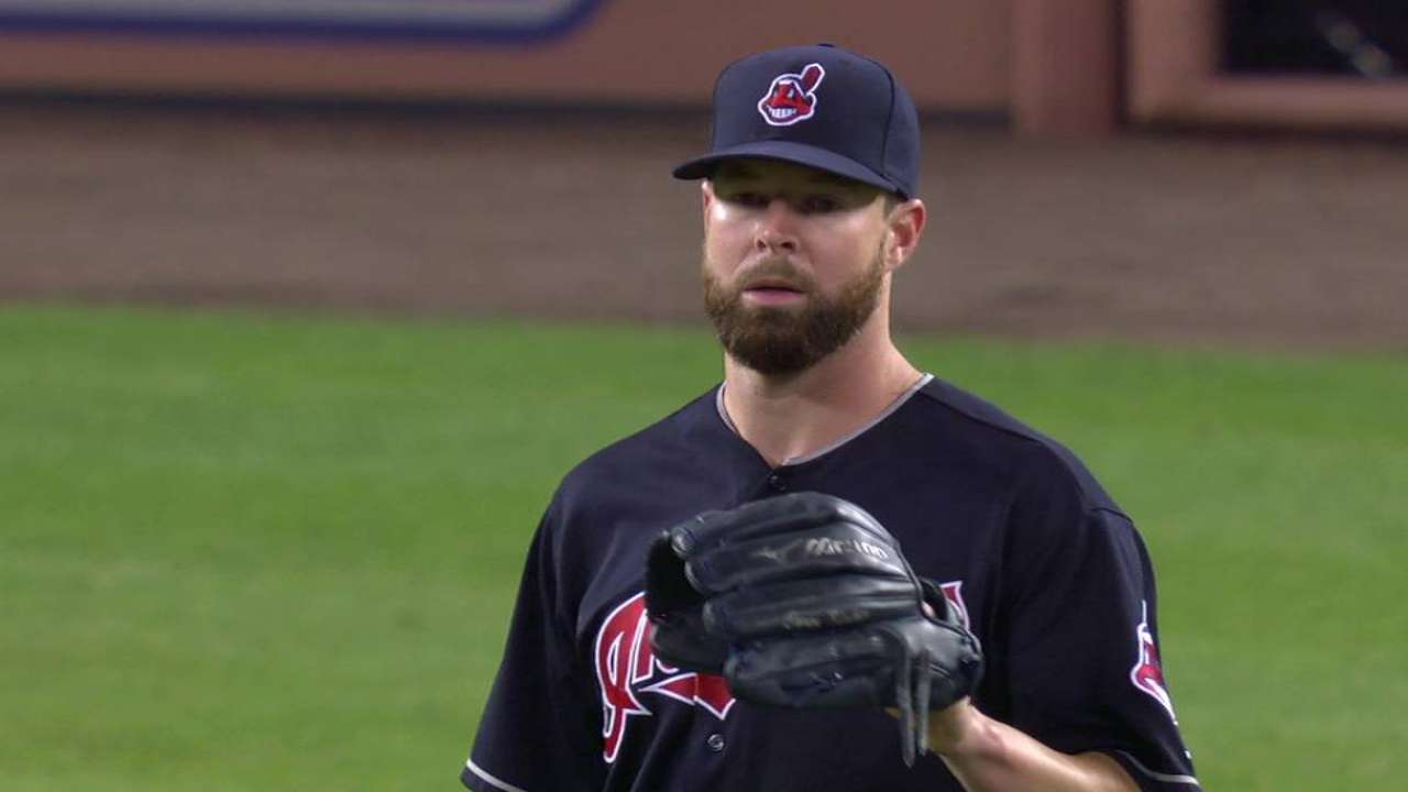 Kluber leaves with an injury