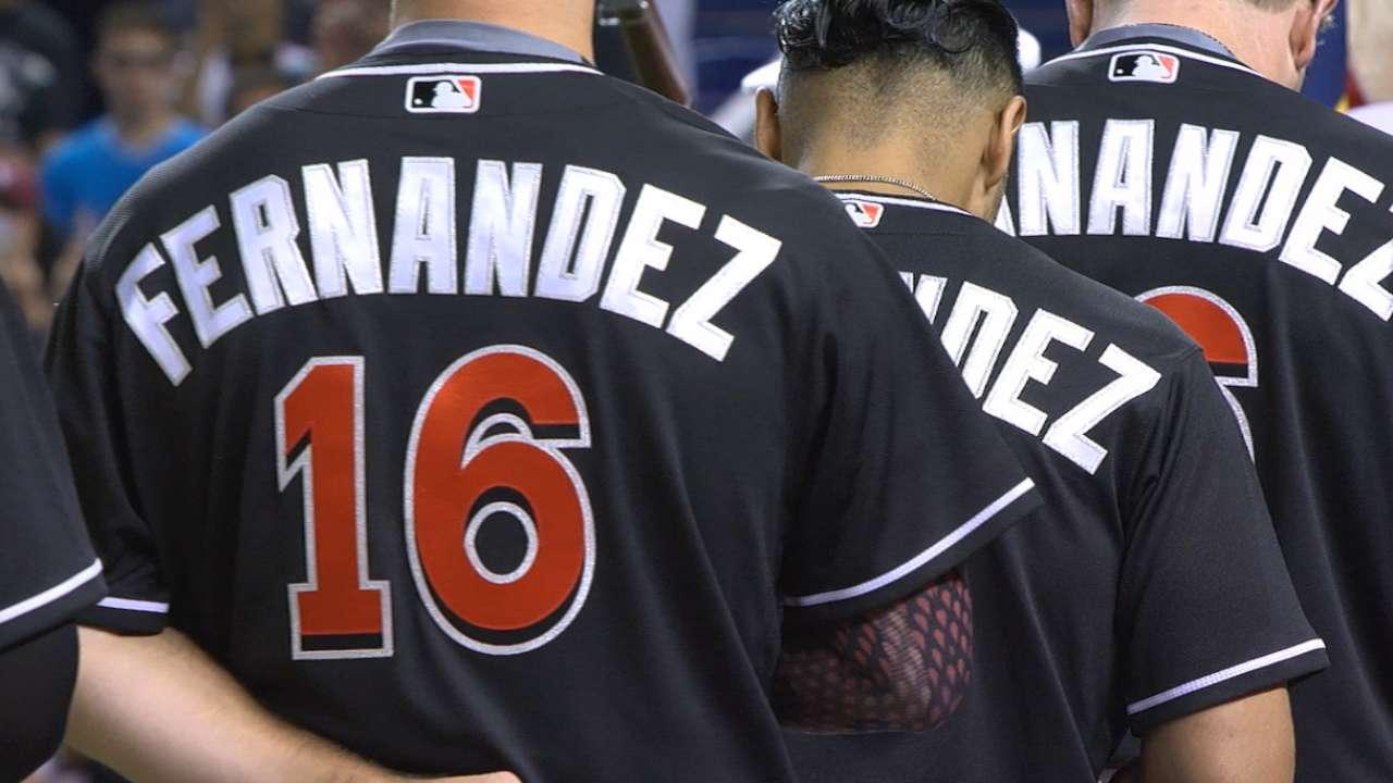 Marlins honor Fernandez by wearing No. 16