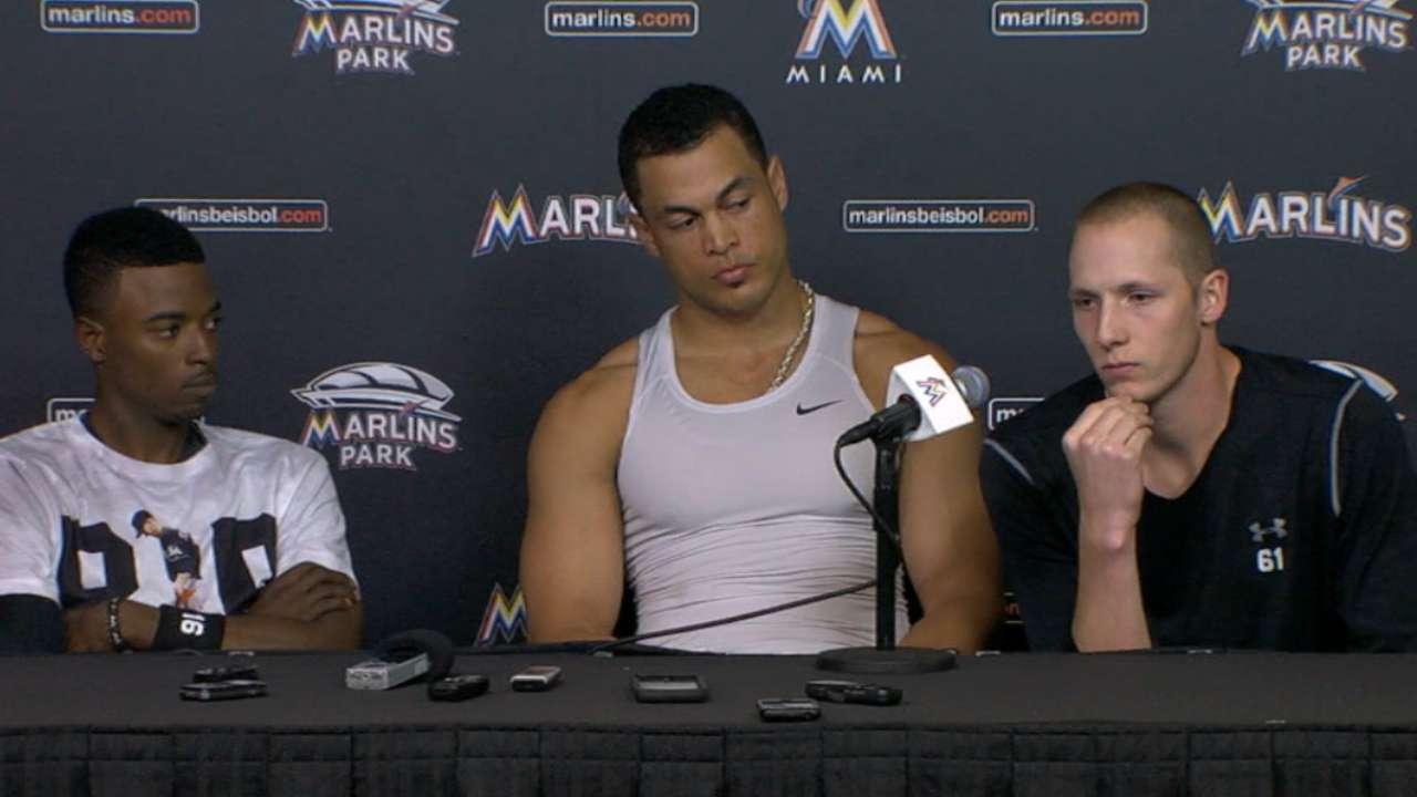 Marlins talk emotional win