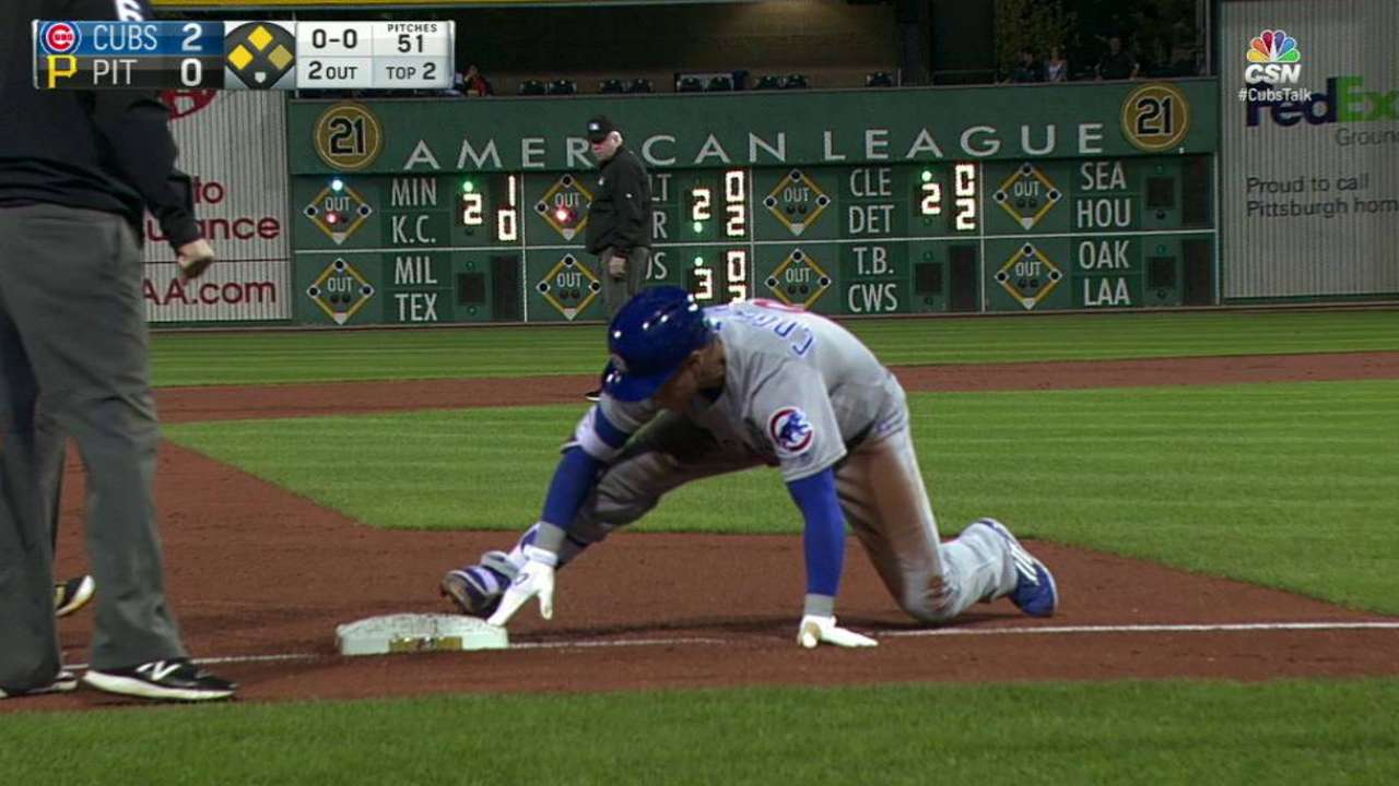 Coghlan's bases-clearing triple