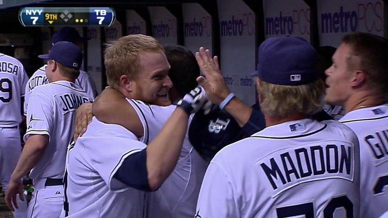 Johnson's game-tying homer