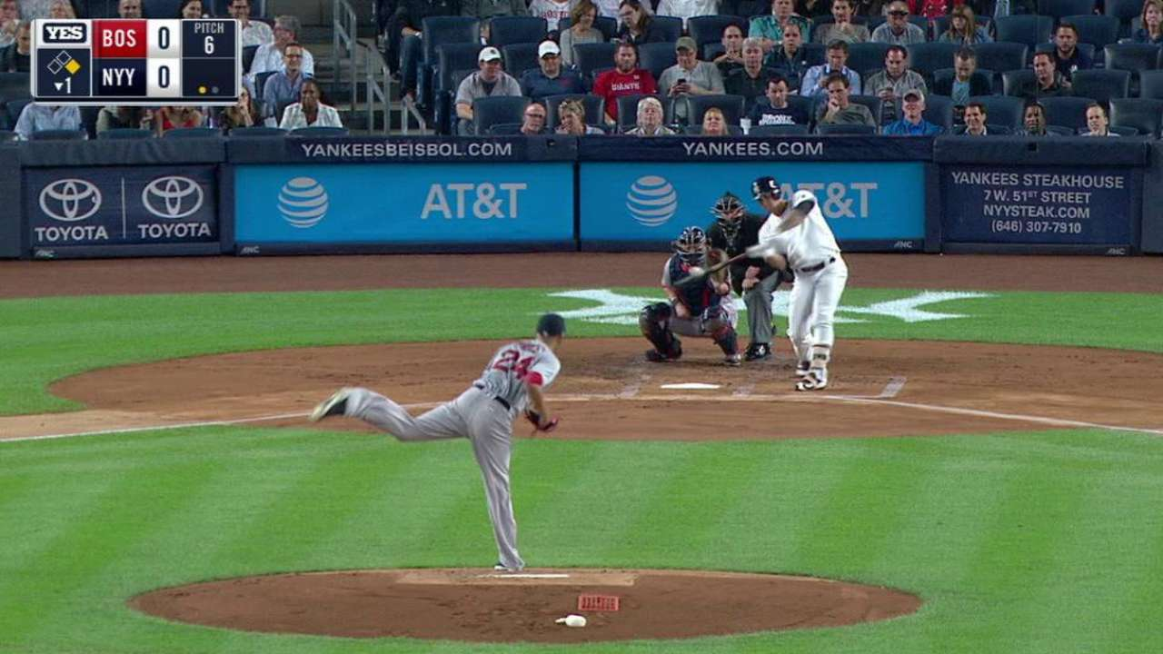 Sanchez's two-run homer
