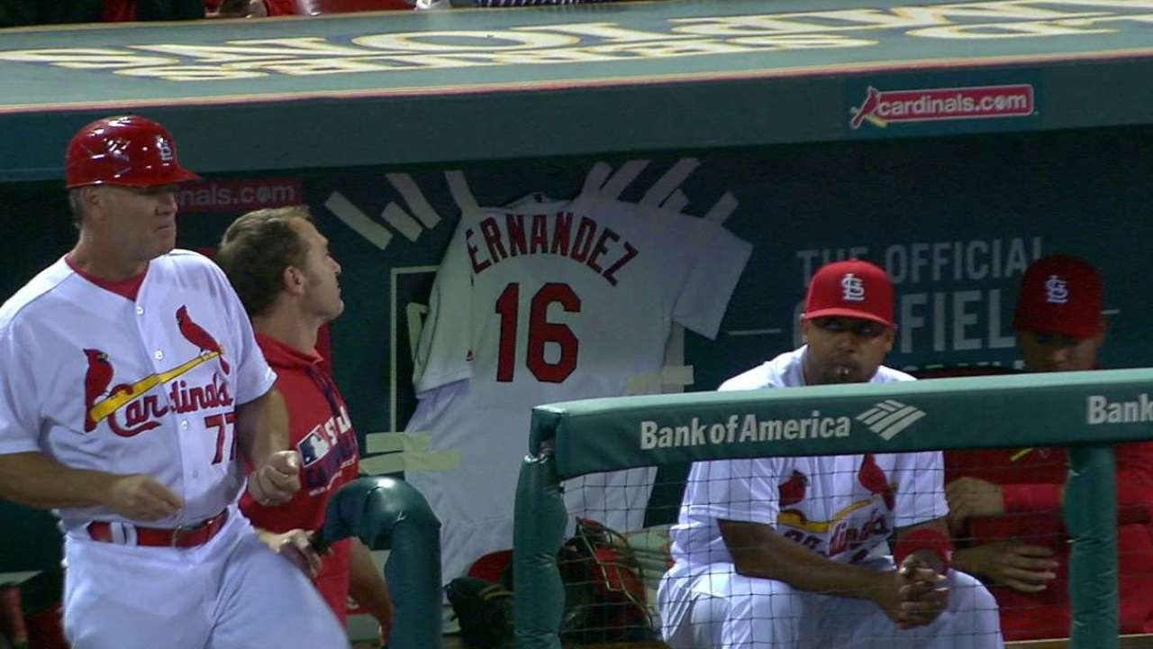 Cards display Fernandez jersey