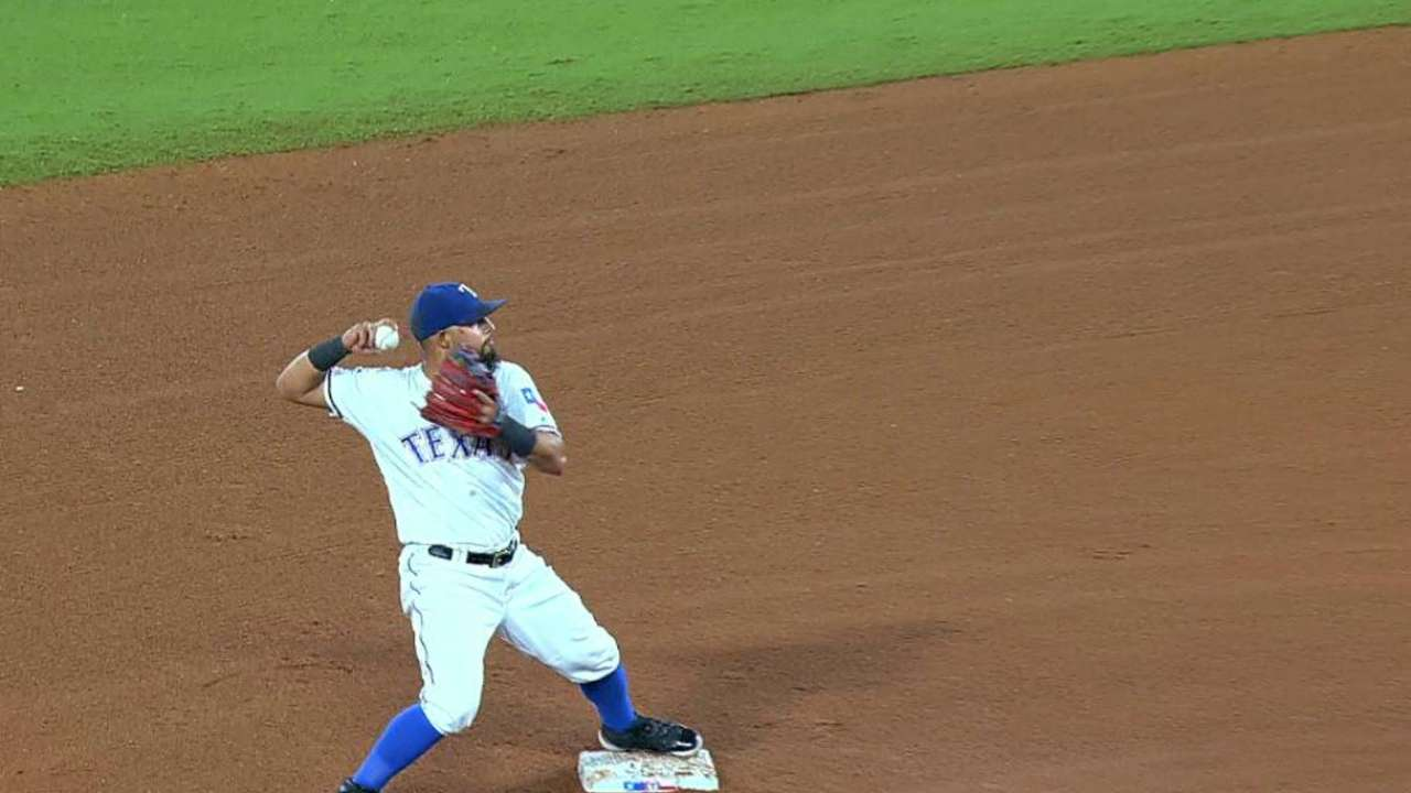 Griffin starts a double play