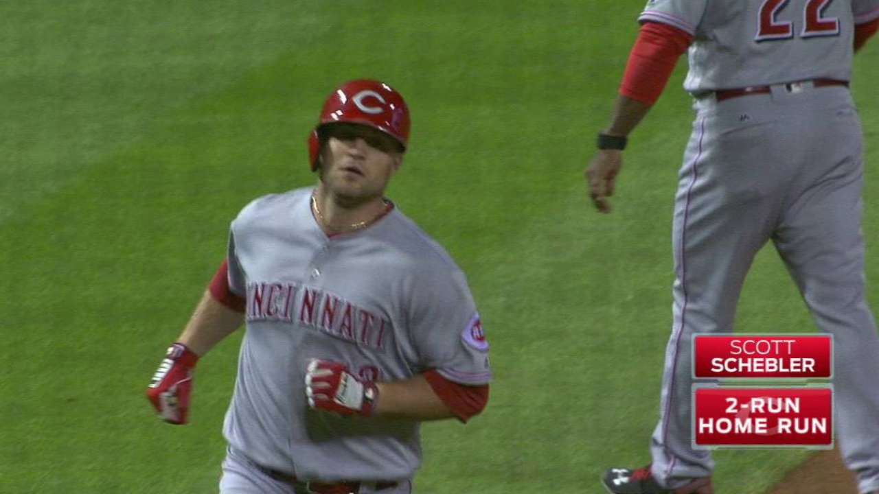 Schebler's two-run jack