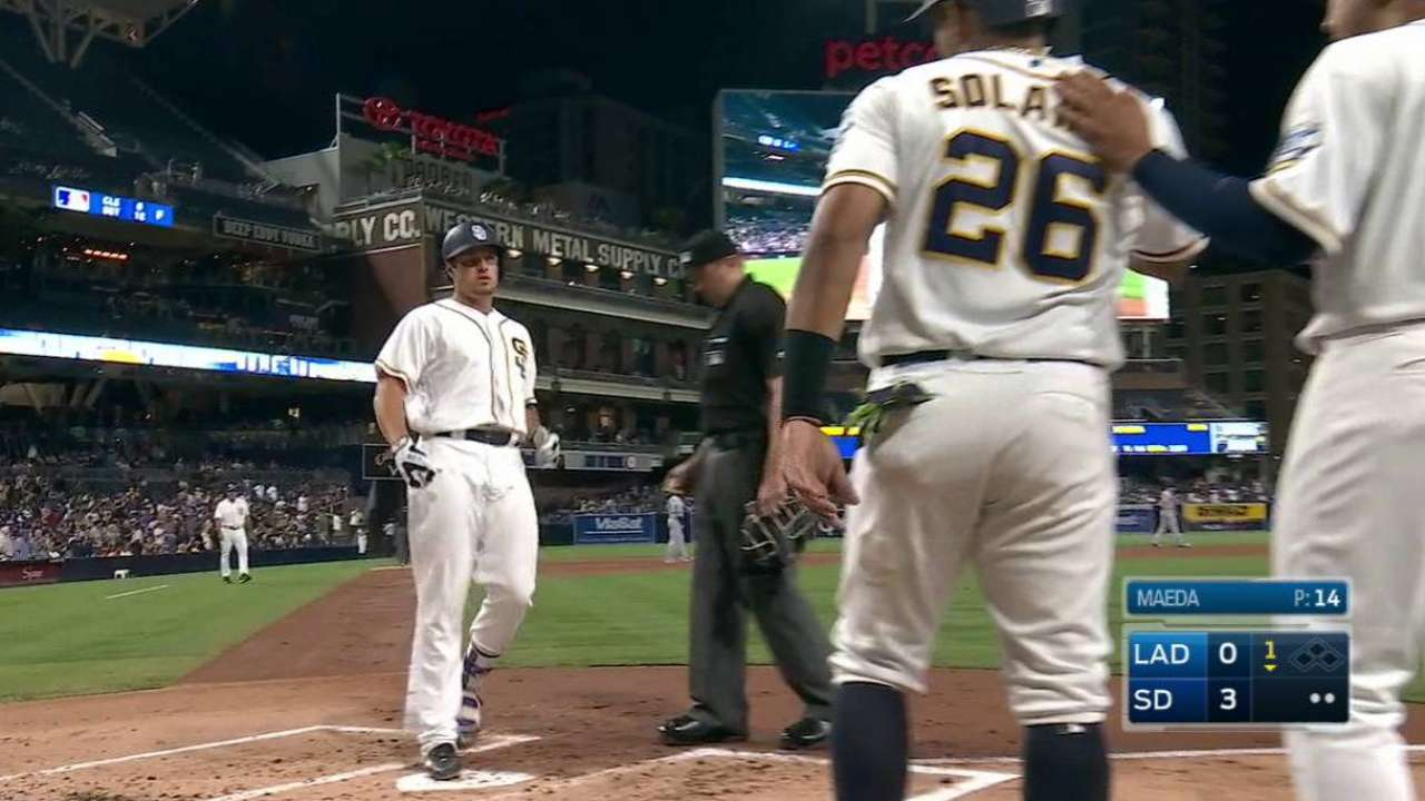 Padres derail Dodgers on Renfroe's 2 HRs, 7 RBIs