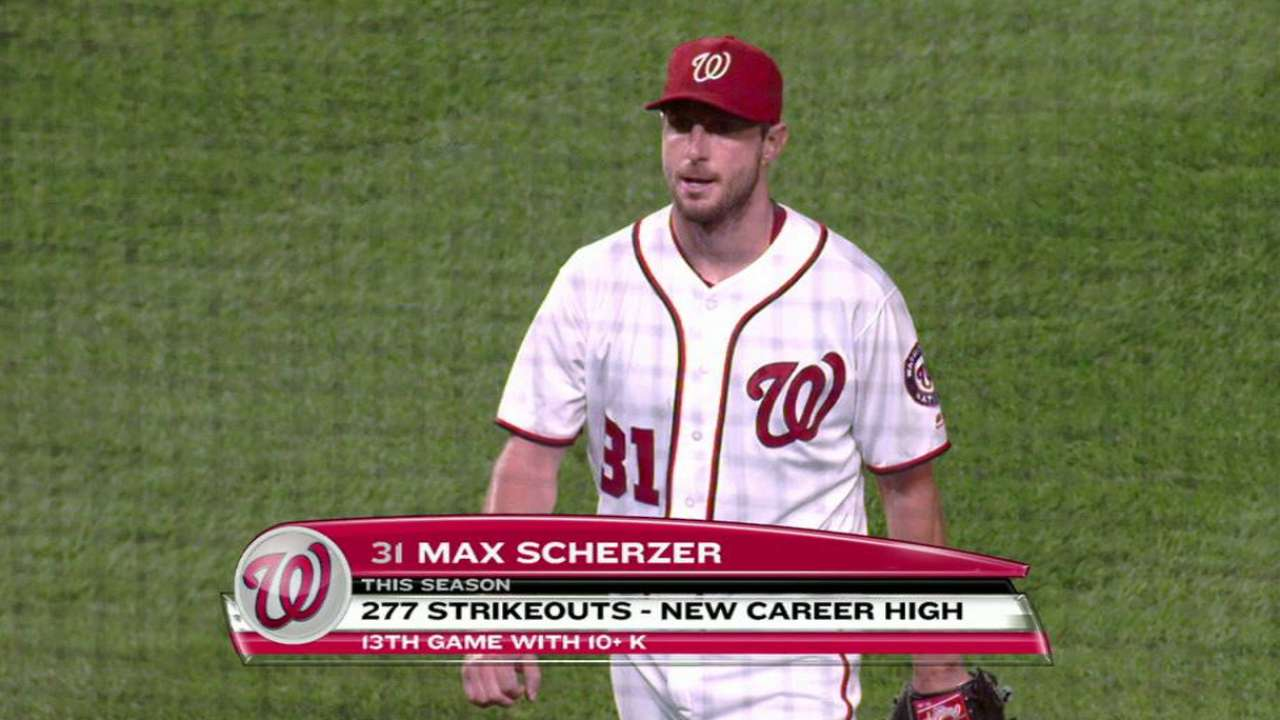 Scherzer sets Nats' club record