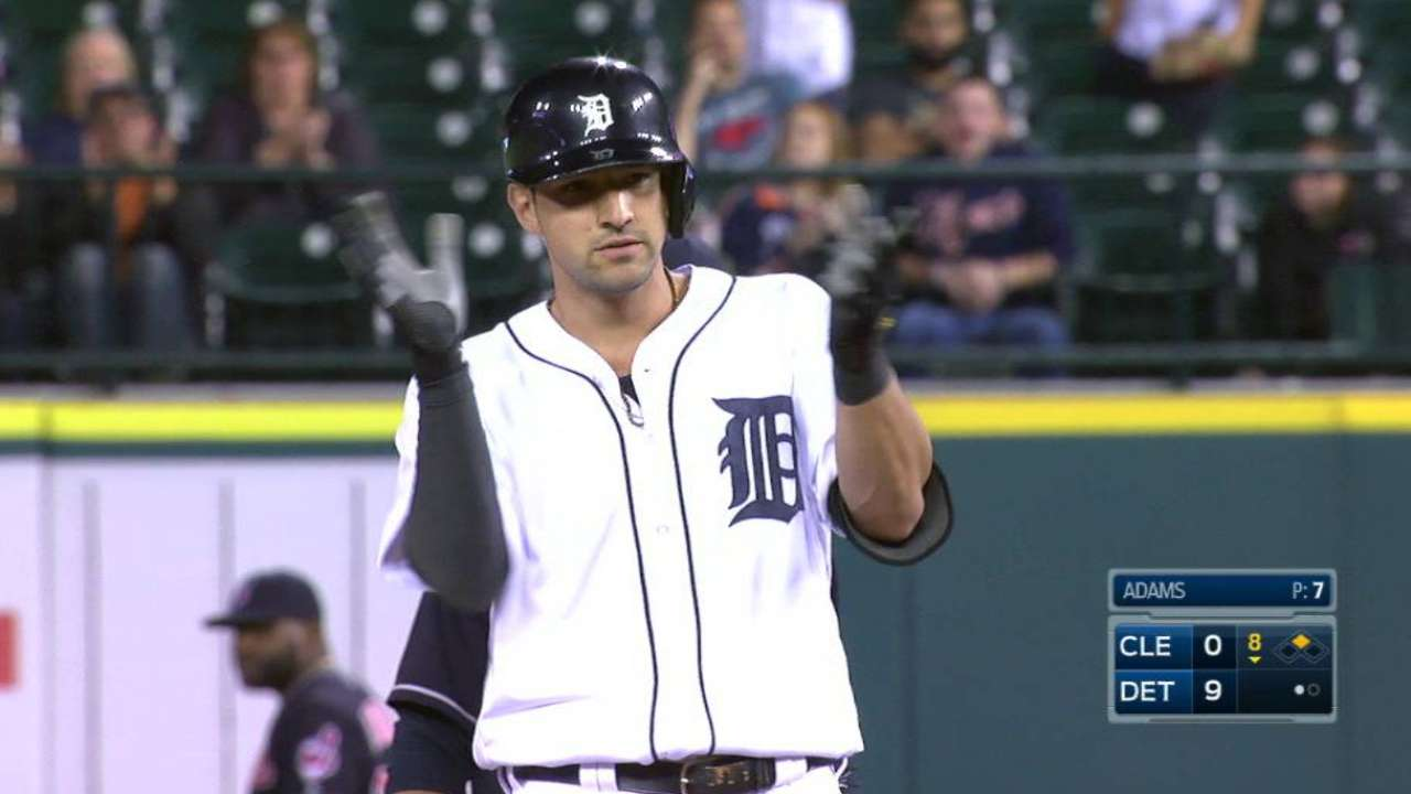 Castellanos rips a double