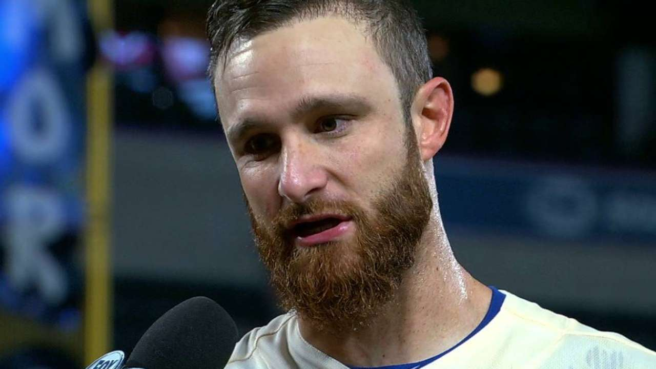 Lucroy discusses 6-4 win