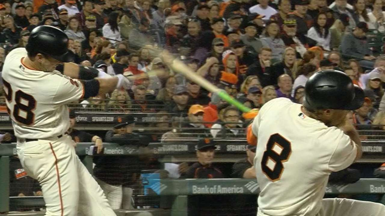 Posey, Pence go back-to-back
