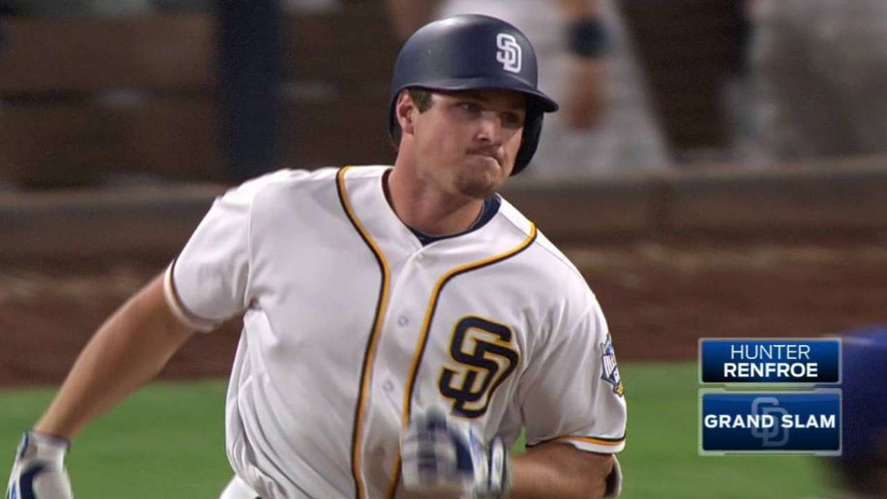 Renfroe makes Padres history with 7 RBIs