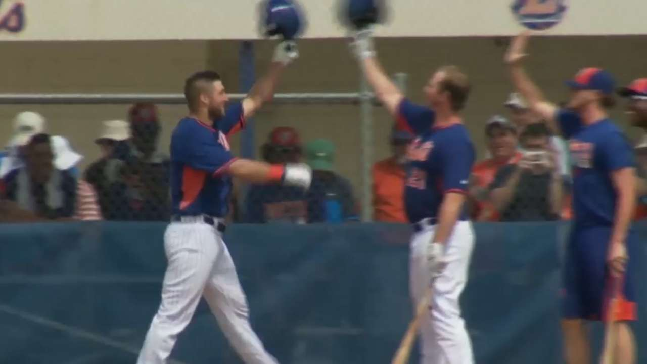 Tebow homers on first instructional league pitch