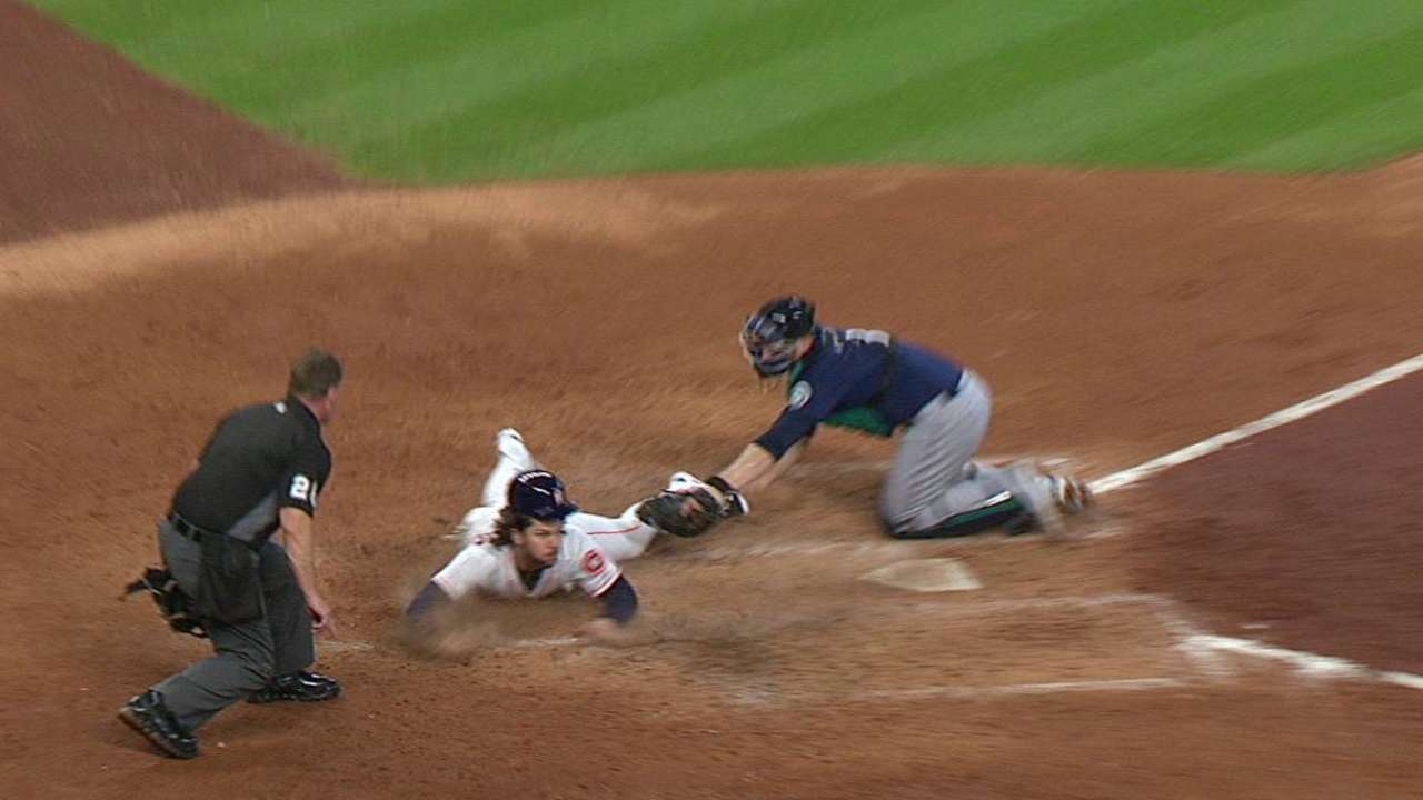 Marisnick avoids tag at home