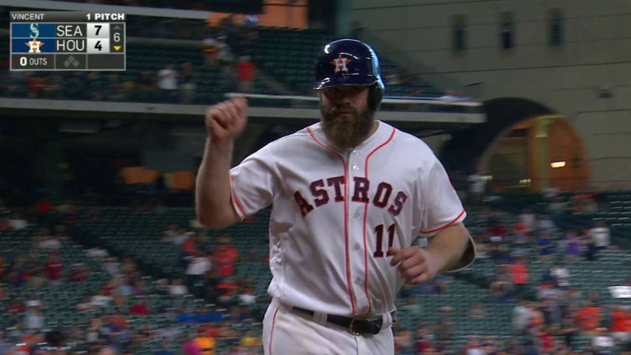 Gattis' solo homer in the 6th