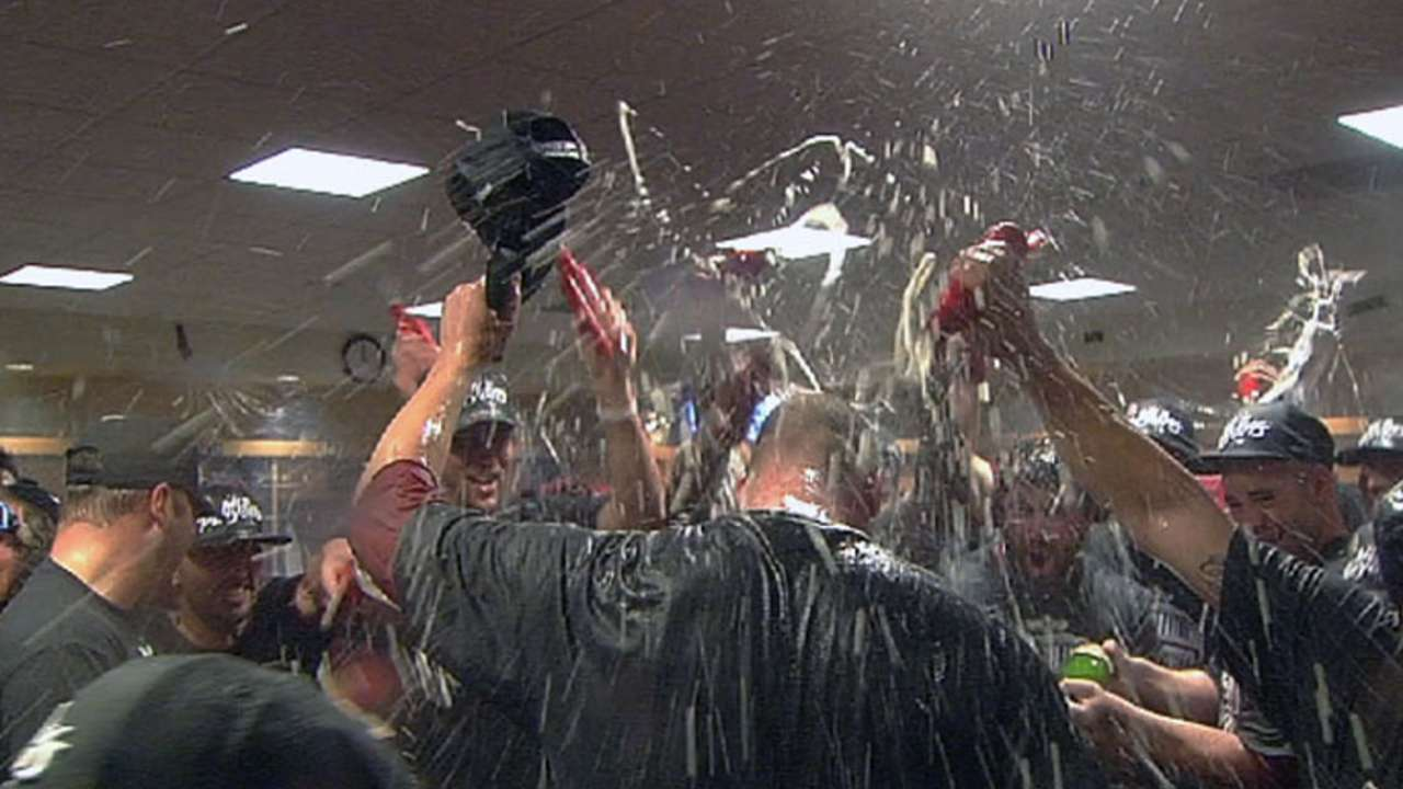 Cards react to clinching win