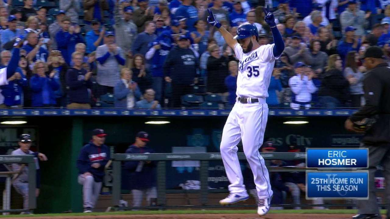 Hosmer's two-run homer