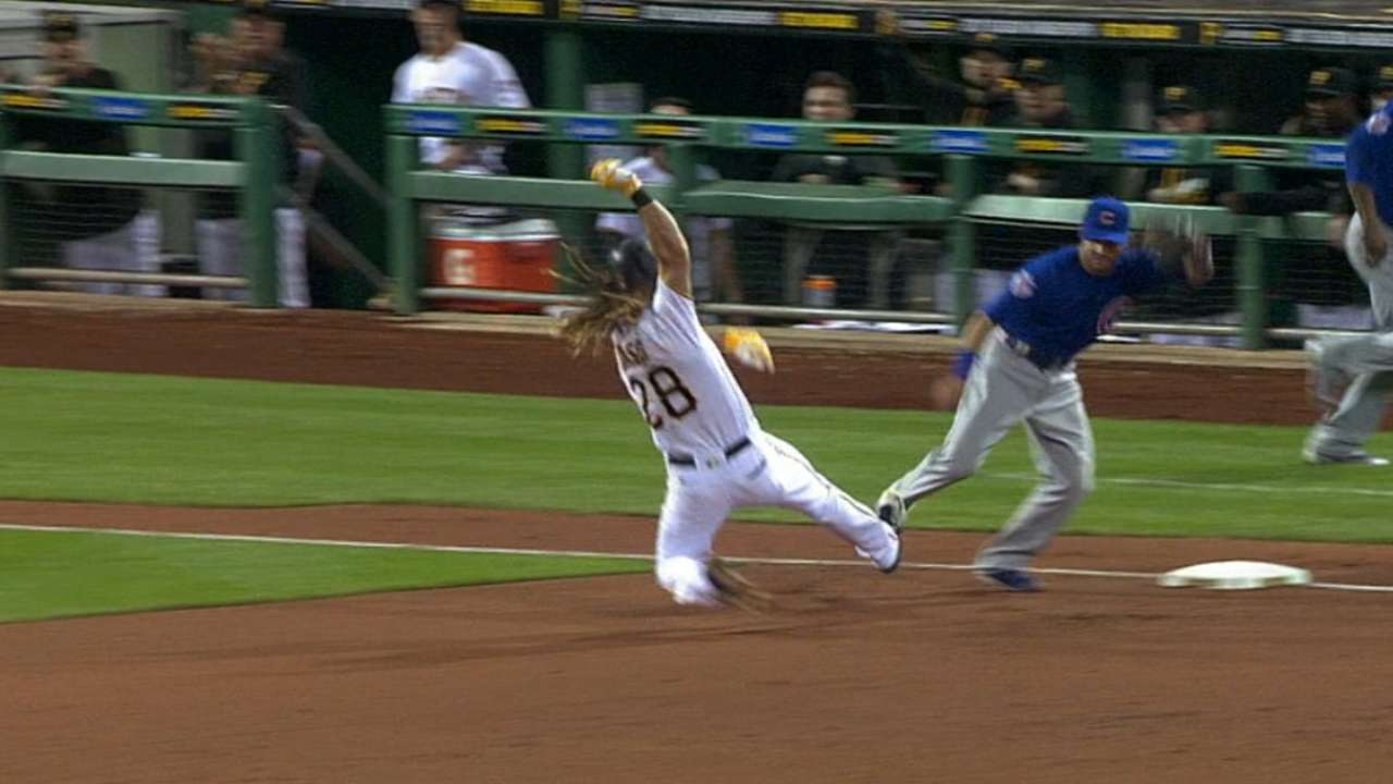 Jaso hits for first cycle in PNC Park history