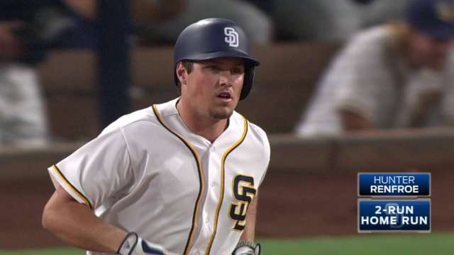 Padres Rookie Hunter Renfroe Hit A Home Run On Top Of The