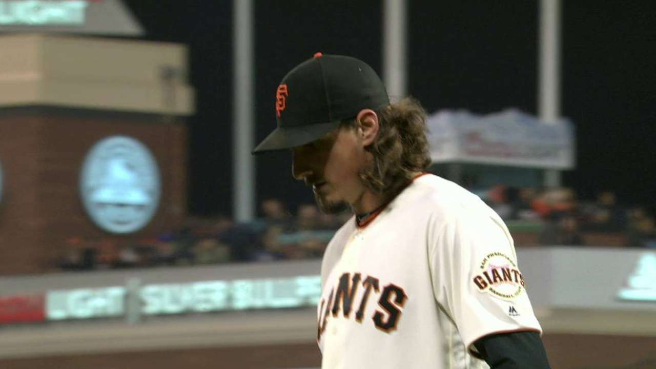 Samardzija's 10th strikeout