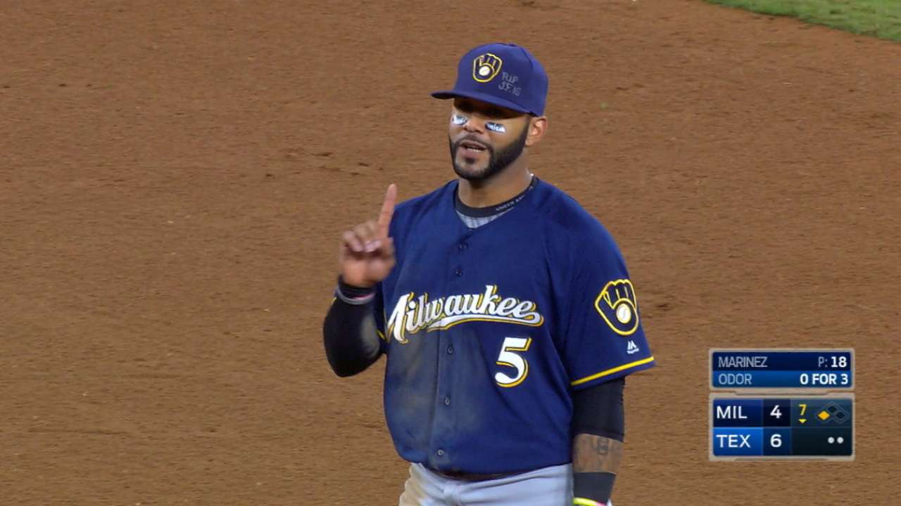 Villar energizes the Brewers