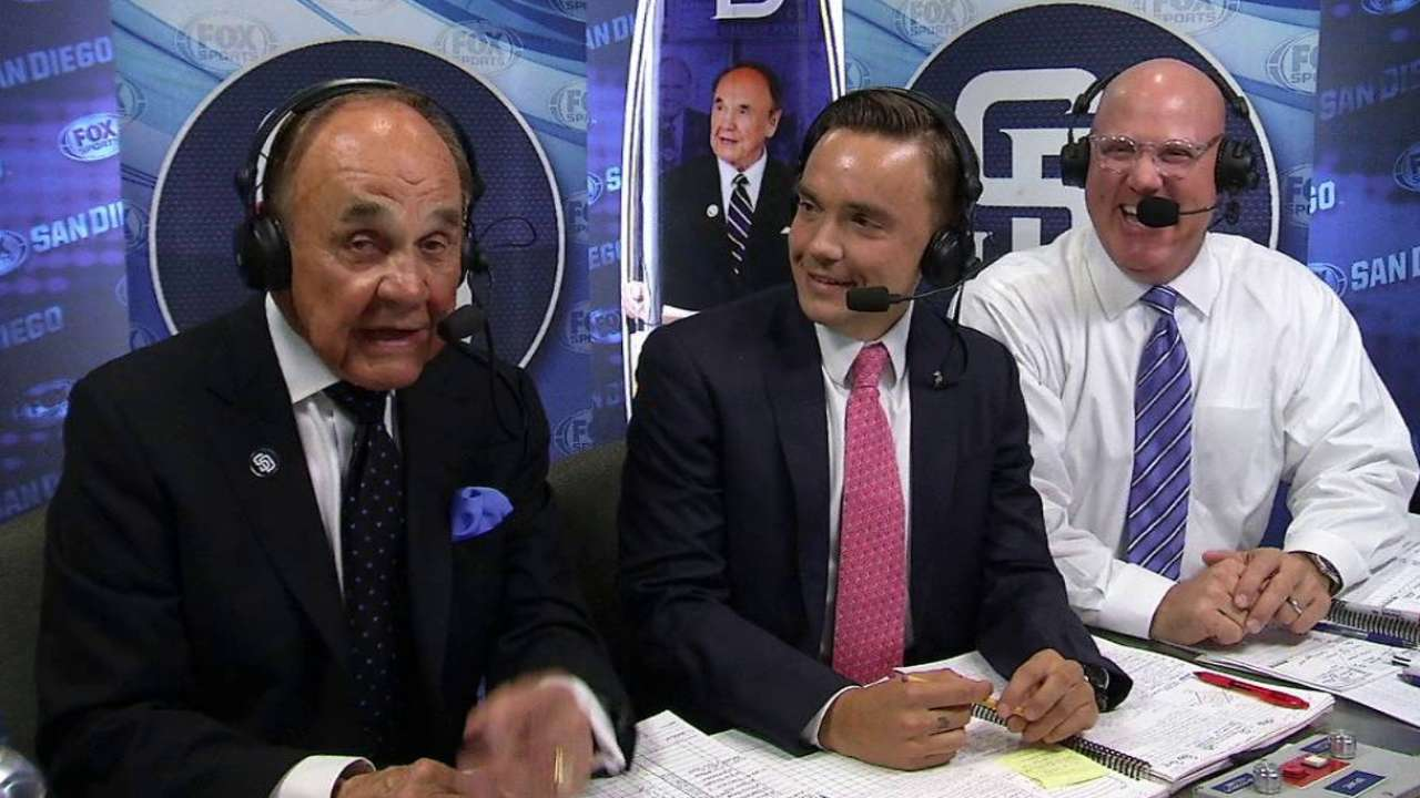 Enberg's son joins the booth