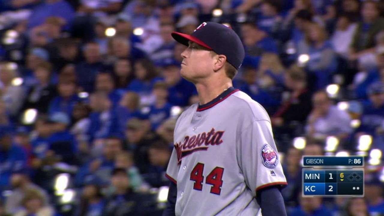 Gibson's season-high strikeout