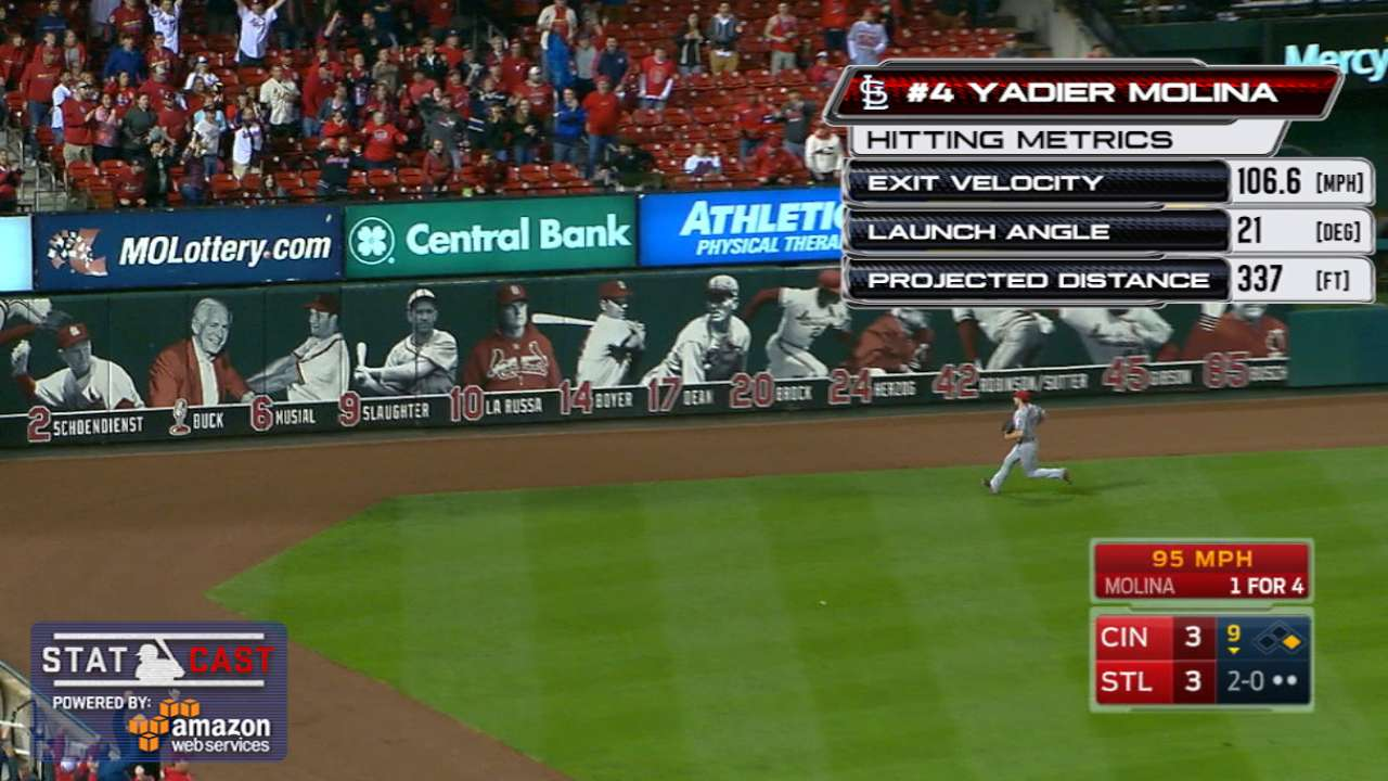 Statcast: Molina's walk-off hit