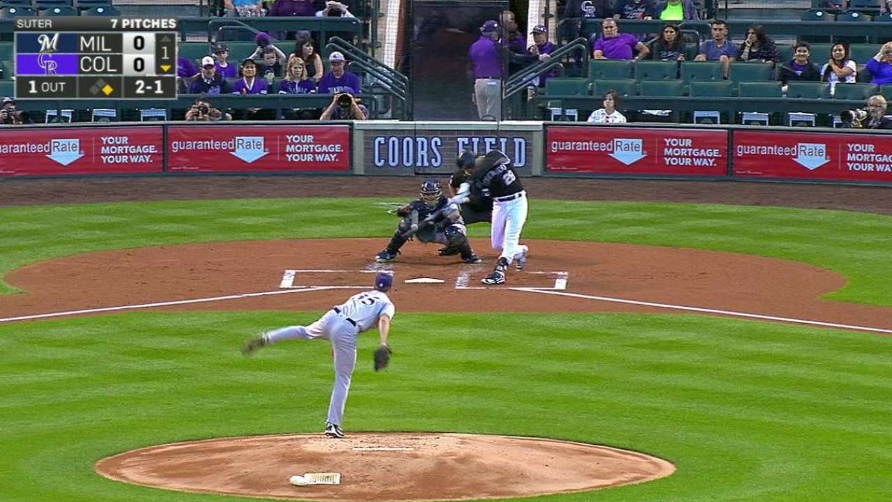 Arenado hits No. 41 as Rockies beat Brewers