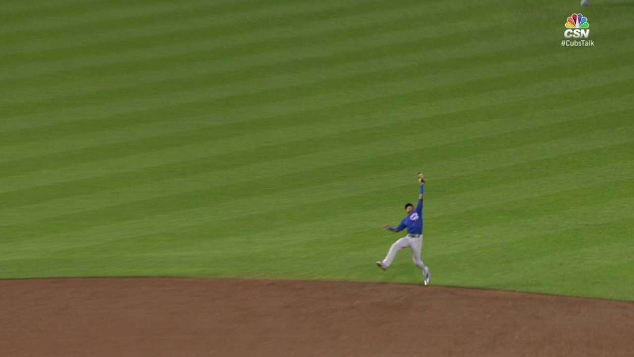 Russell's jumping catch
