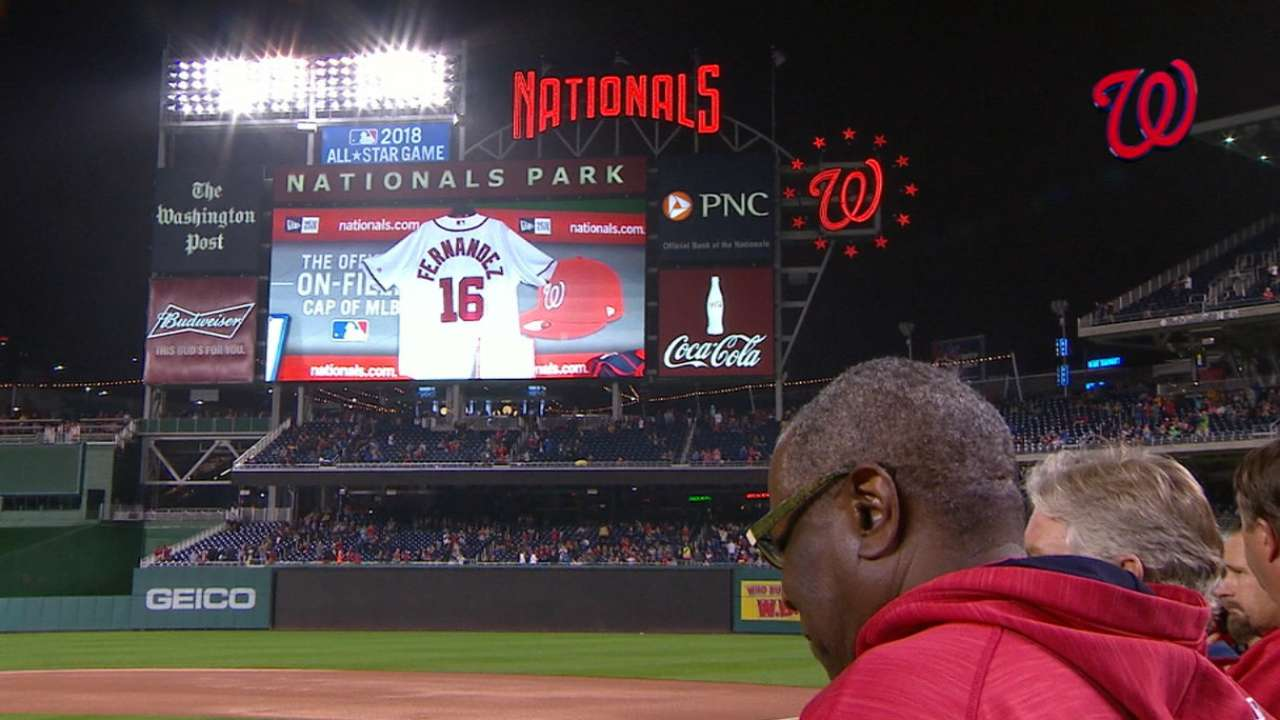 Nationals honor Fernandez