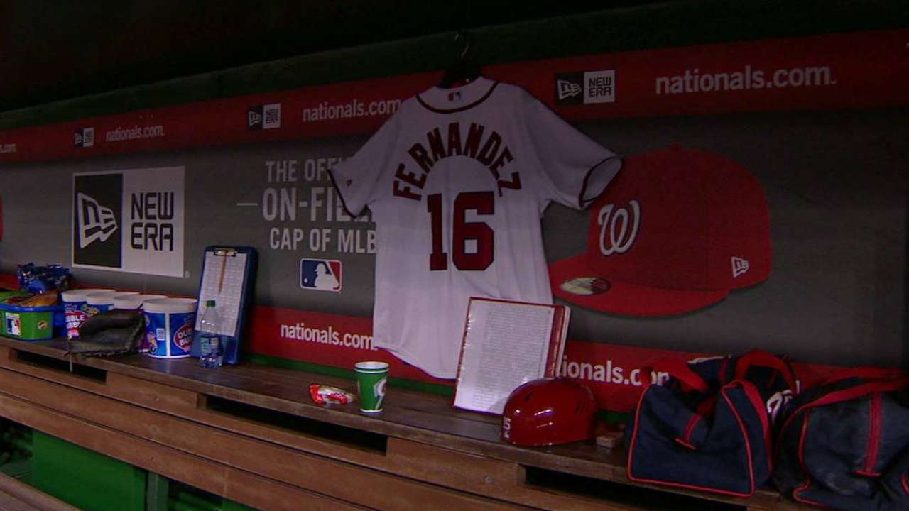 Nationals hold pregame tribute for Fernandez