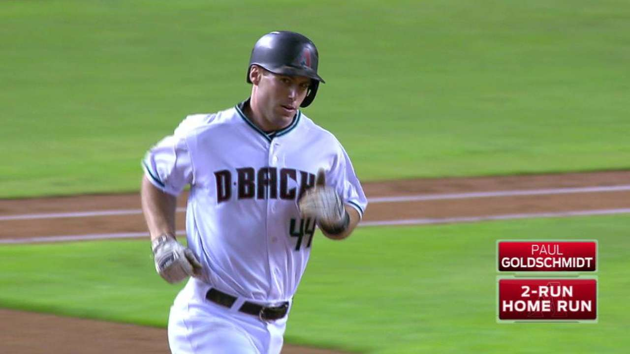 Goldy's two-run homer to center