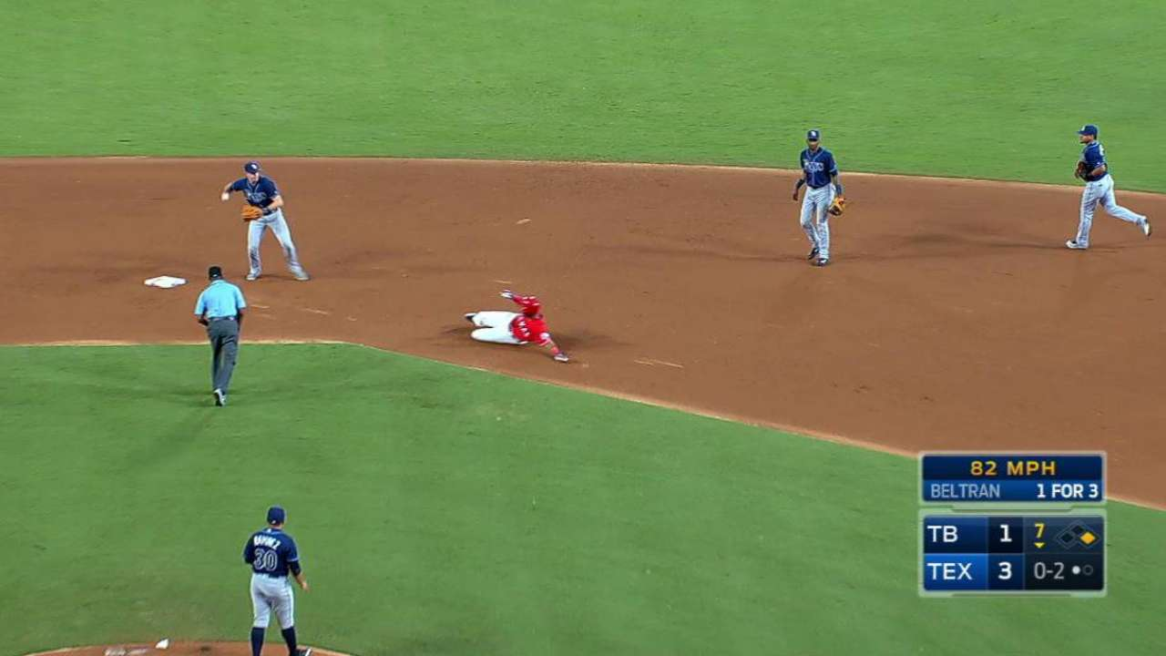 Rays turn smooth double play