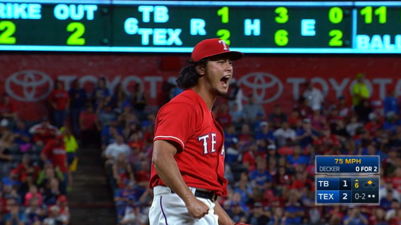 Rangers hoping to stabilize rotation, first, corner OF in 2017