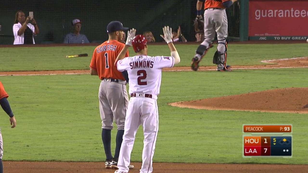 Simmons' two-run single
