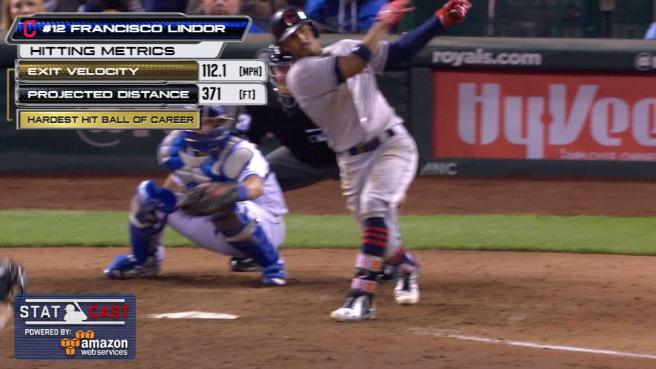 Statcast: Lindor's 112-mph homer