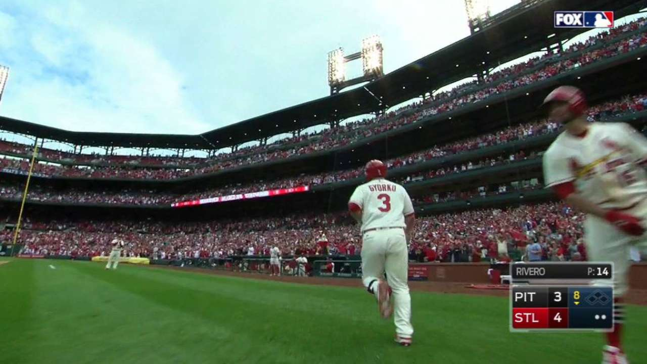 Gyorko homers to give Cards lead