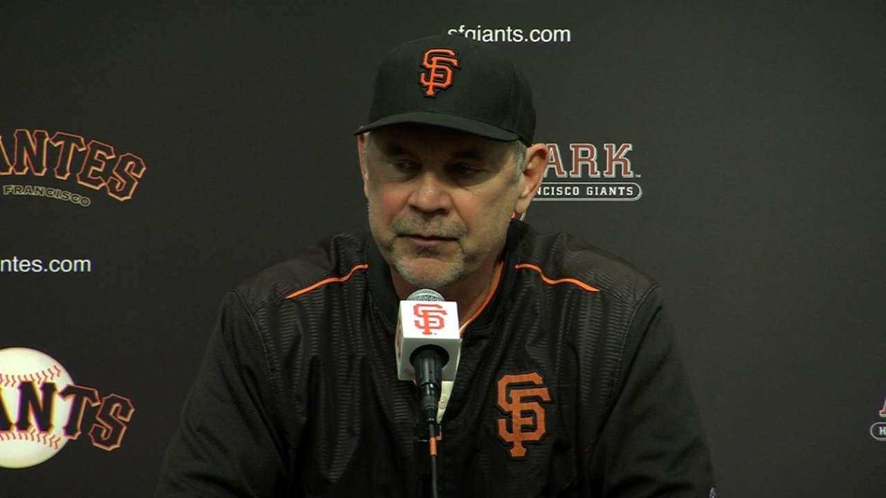 Bochy on Blach's gem