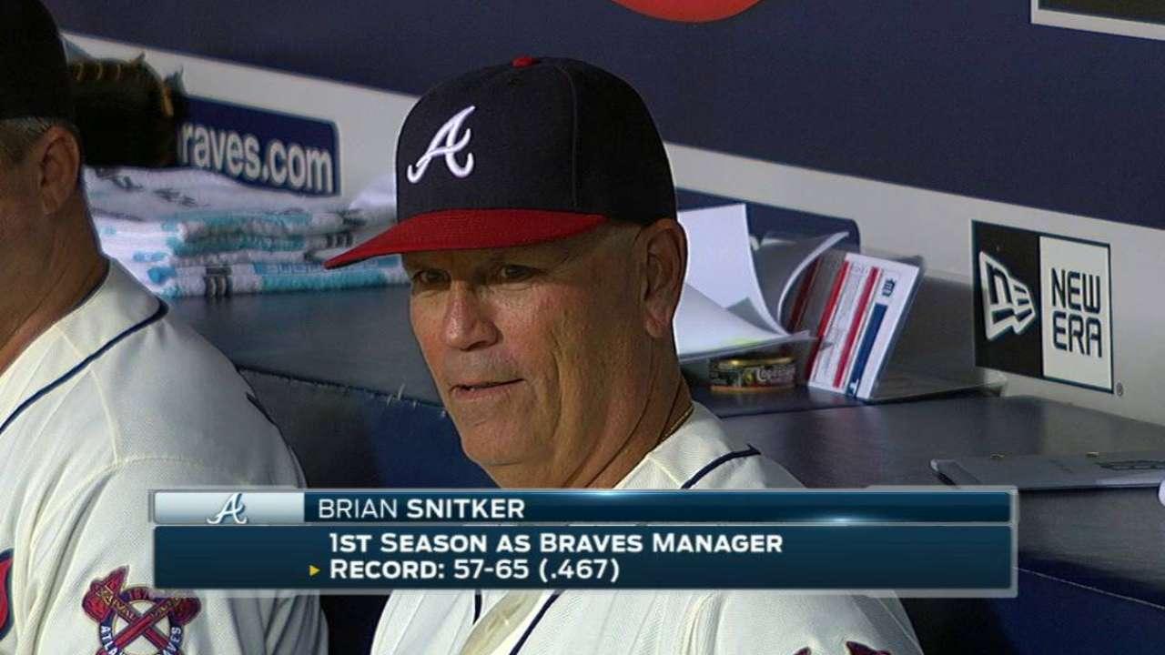 Snitker, Pendleton among Braves' candidates