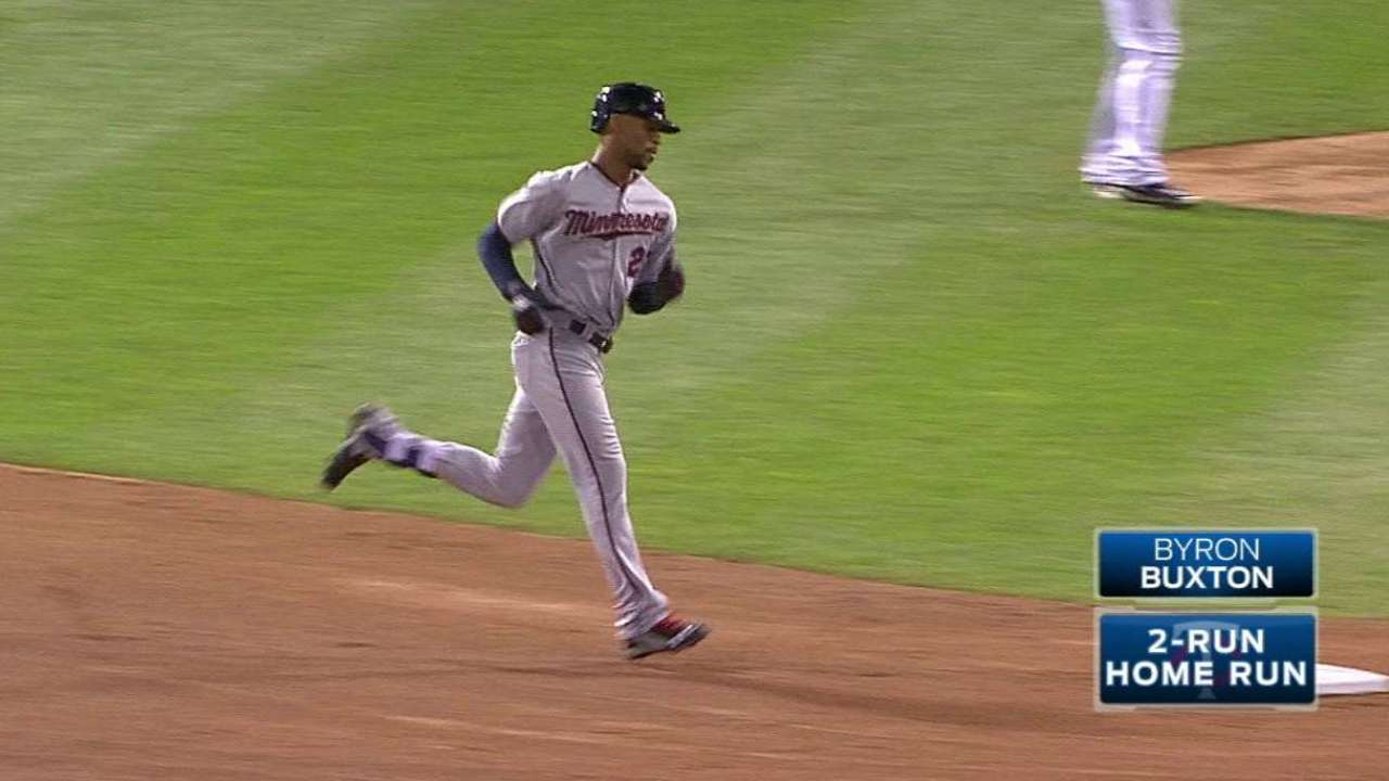 Buxton's two-run dinger