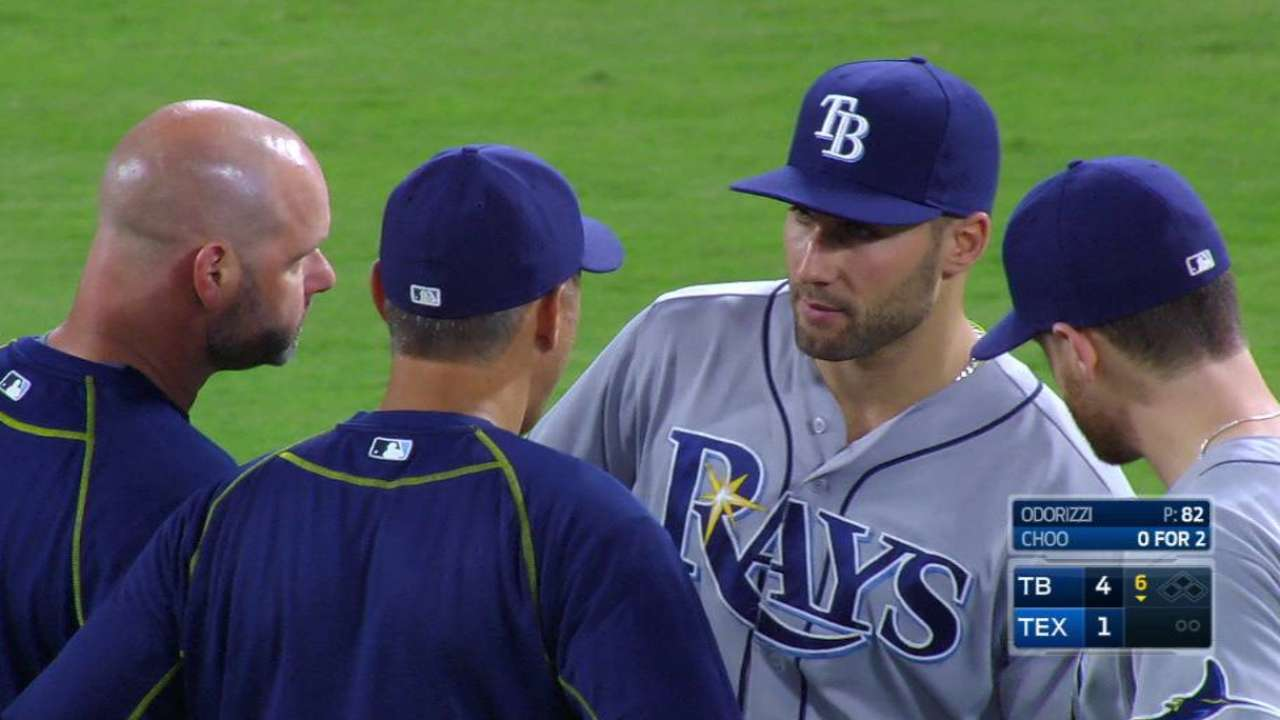 Kiermaier exits early, irked by HBP on calf