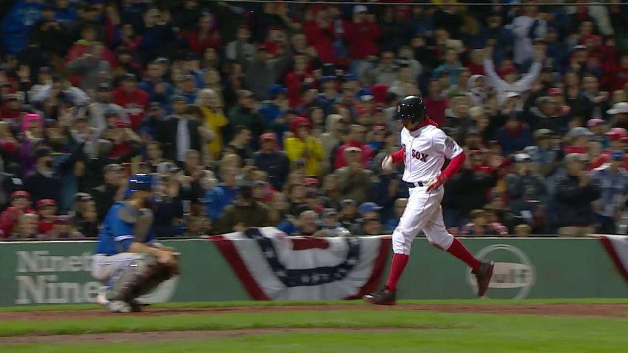 Betts ties game after balk