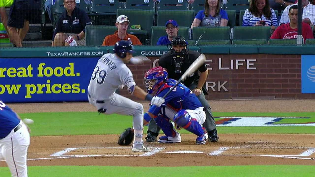 Kiermaier gets hit by pitch